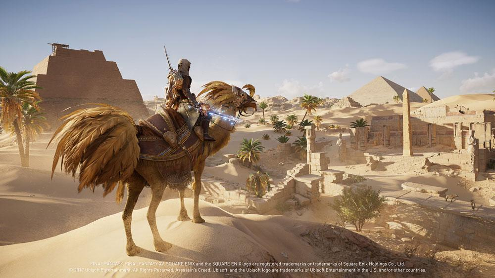 Assassin's Creed Origins encontra Final Fantasy XV