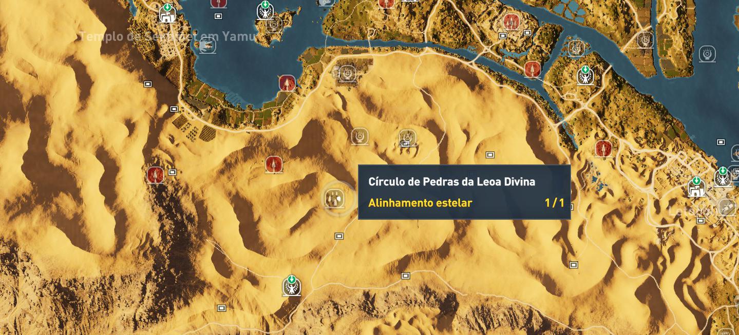 Como encontrar todos os círculos de pedras em Assassin's Creed Origins 16
