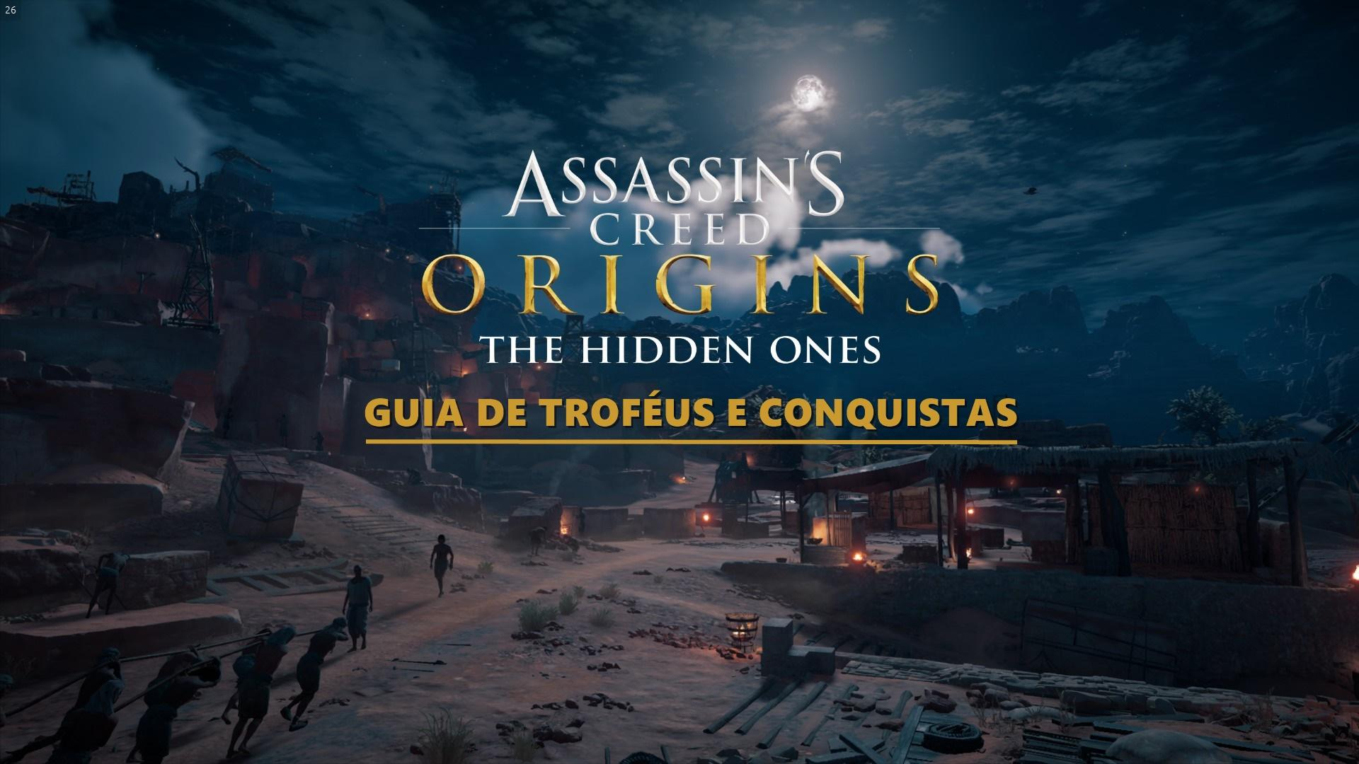 Guia de Troféus e Conquistas - Assassin's Creed Origins - The Hidden Ones