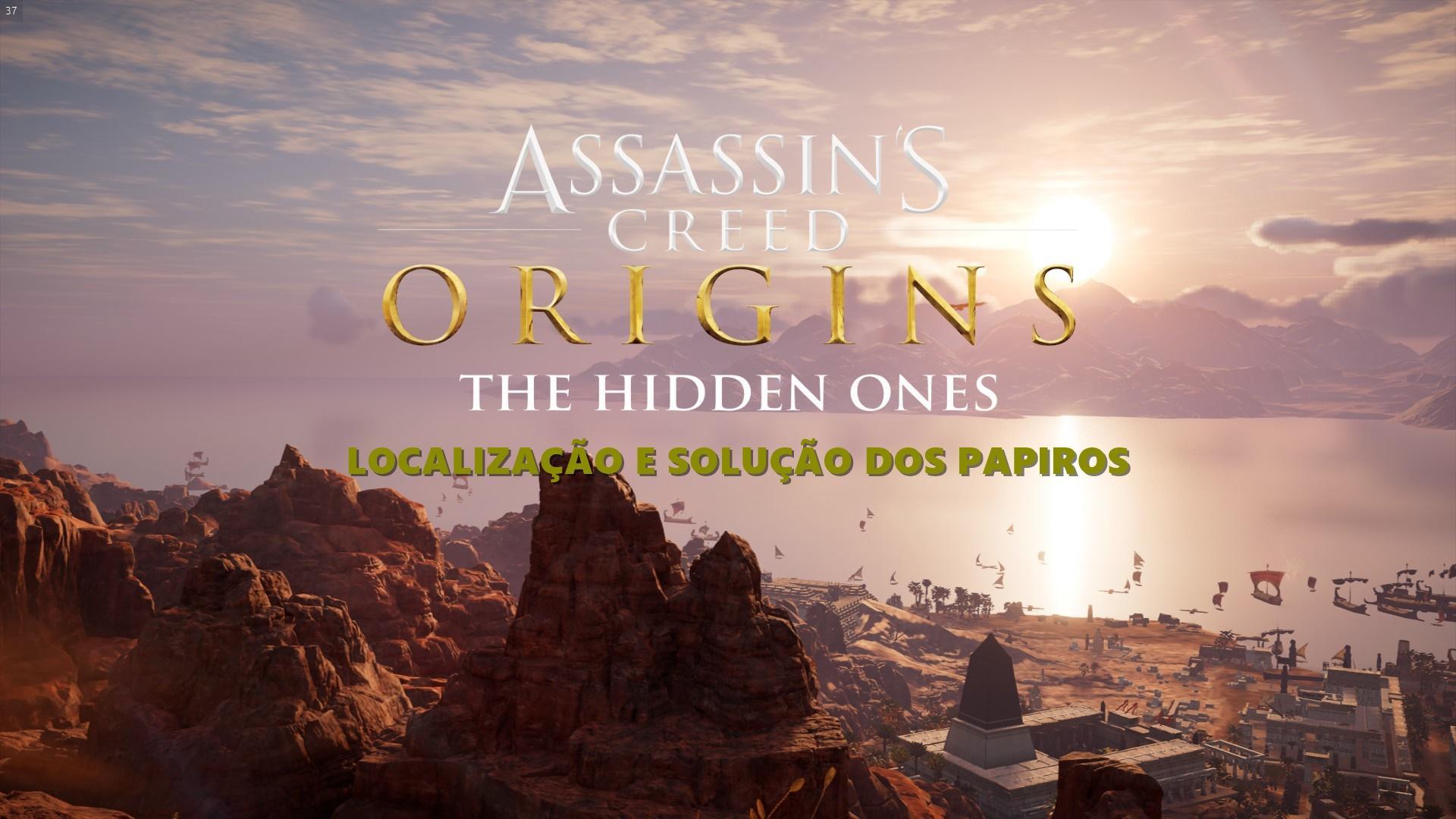 Solução e localização dos Papiros de Assassin's Creed Origins - The Hidden Ones (Os ocultos)