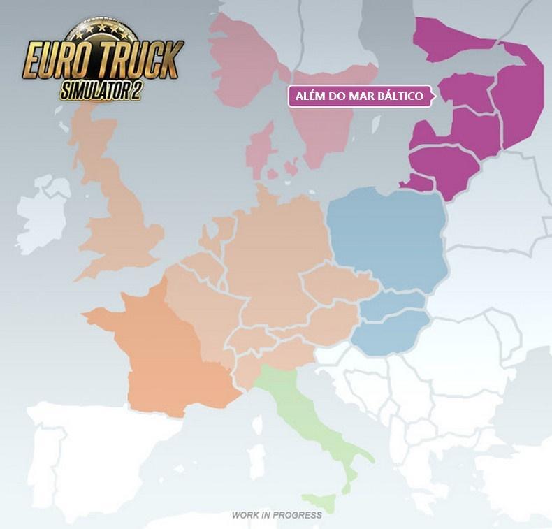 Além do mar Báltico está chegando como nova DLC para Euro Truck Simulator 2