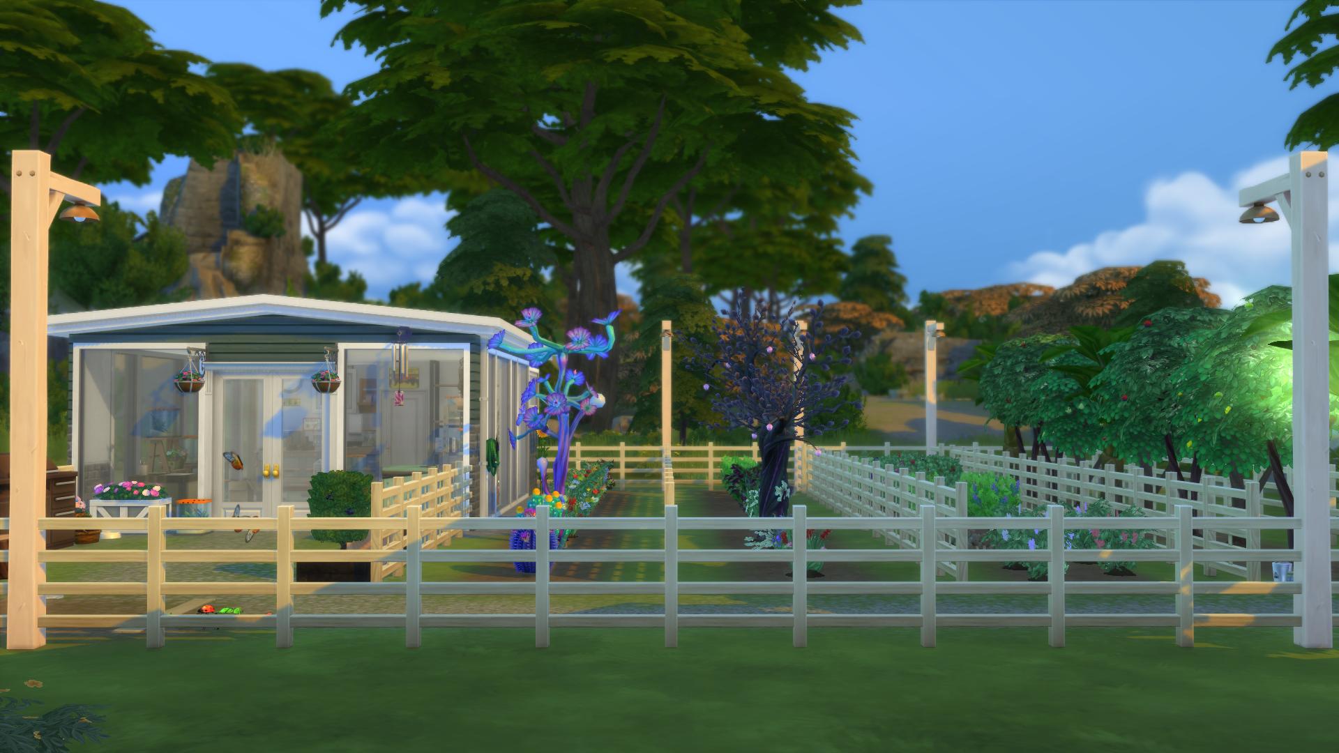 Abrigo de jardim para The Sims 4