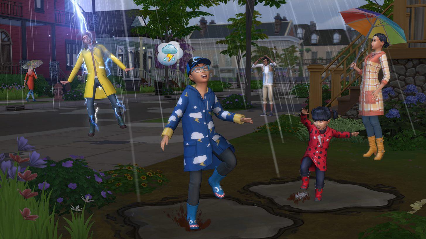 Entre em ação com as estações em The Sims 4
