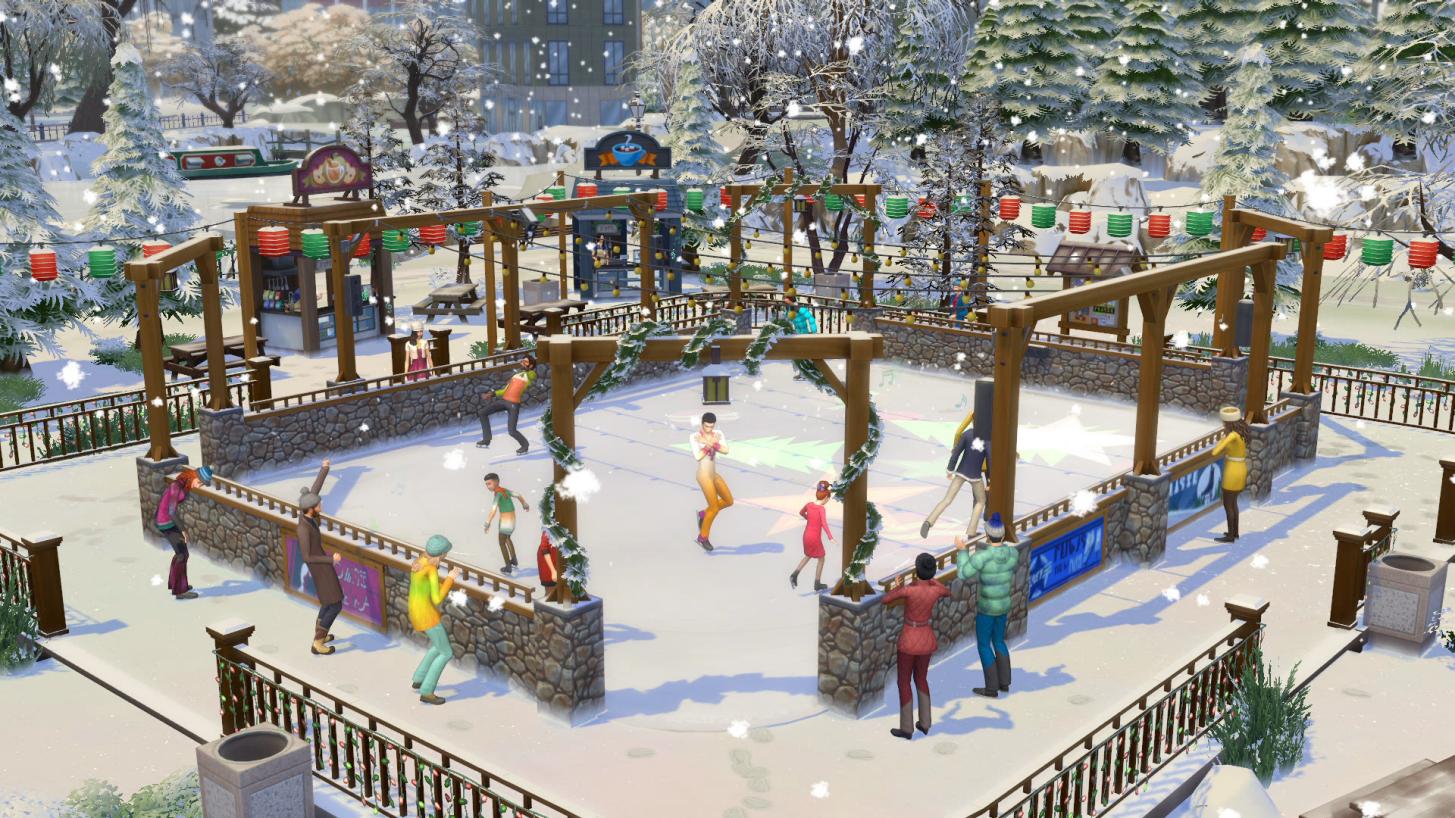 Entre em ação com as estações em The Sims 4 2