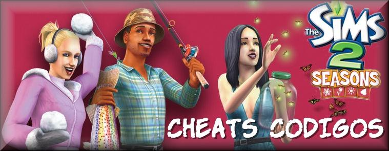 the sims 2 quatro estações cheats codigos