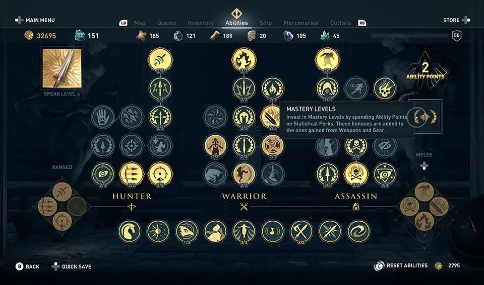 Assassin's Creed Odyssey - Novo Sistema de Níveis de Domínio 5