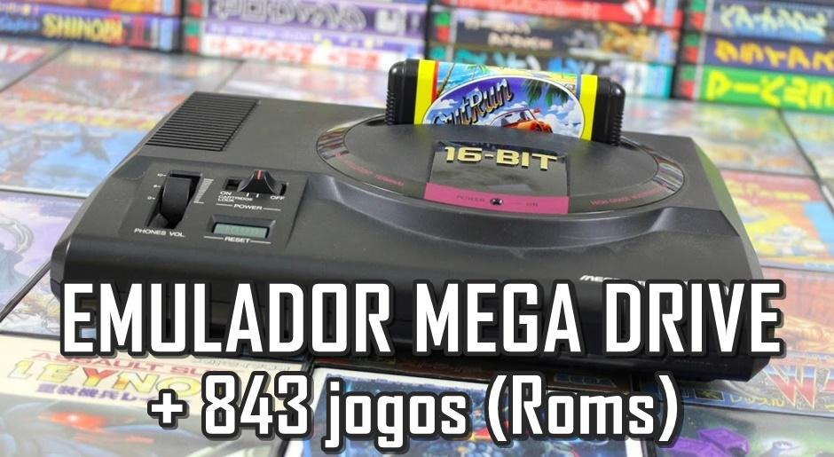 Emulador + 843 jogos (Roms) para Mega Drive