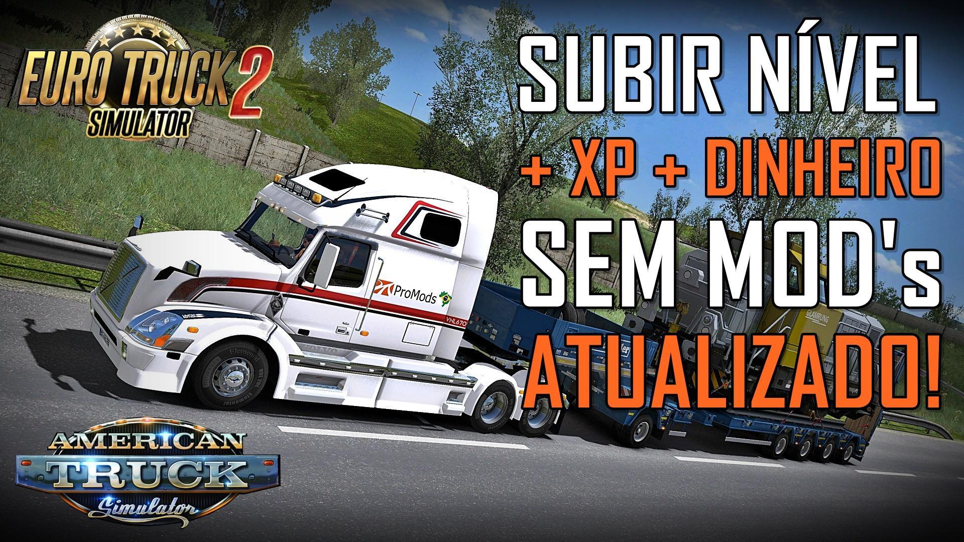 Como adicionar DINHEIRO, XP e SUBIR DE NÍVEL no ETS2 ou American Truck