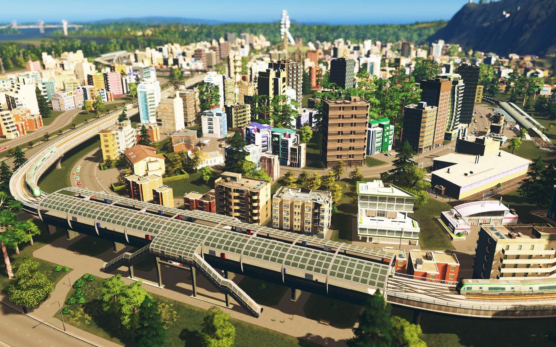 A estação de metrô elevada leva os cidadãos a novas alturas.
