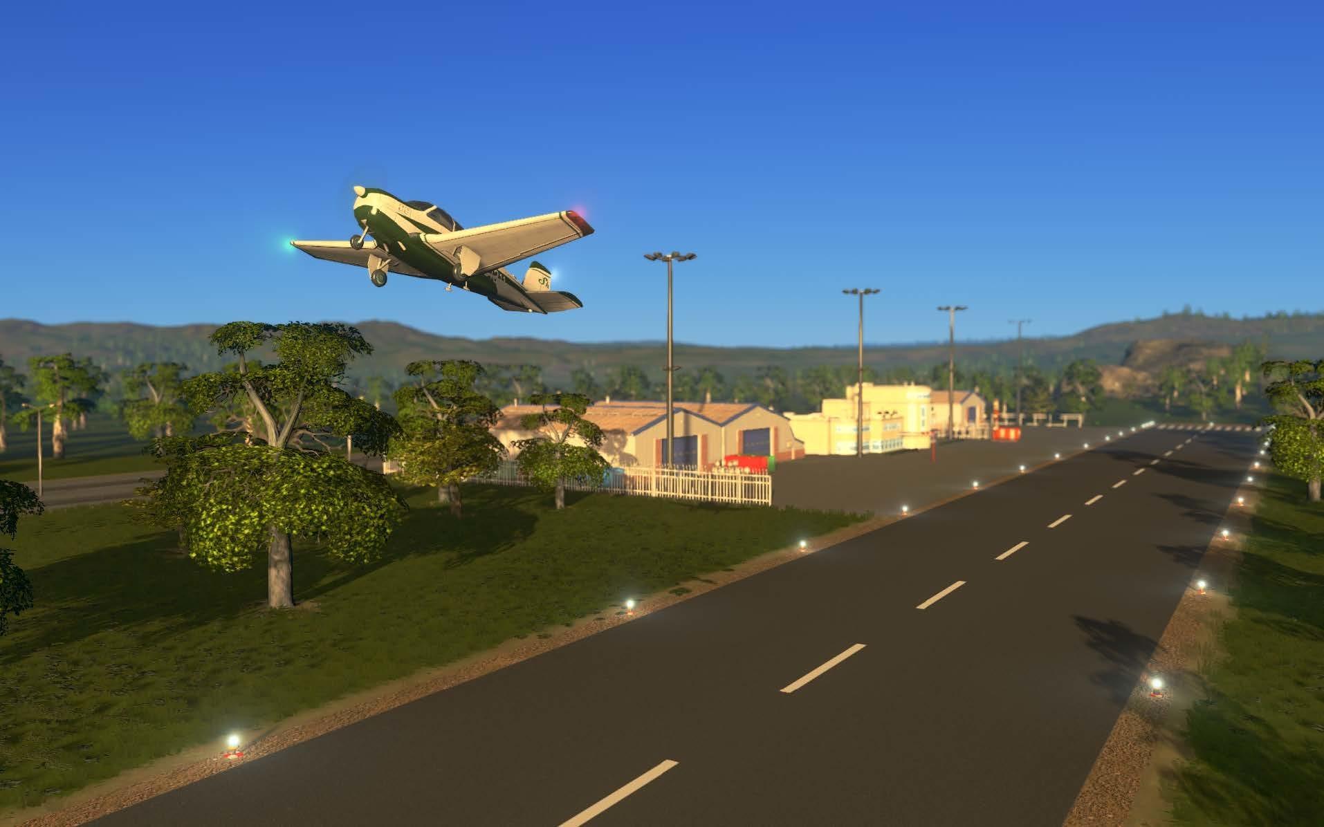 Aviões leves decolando do Clube de Aviação