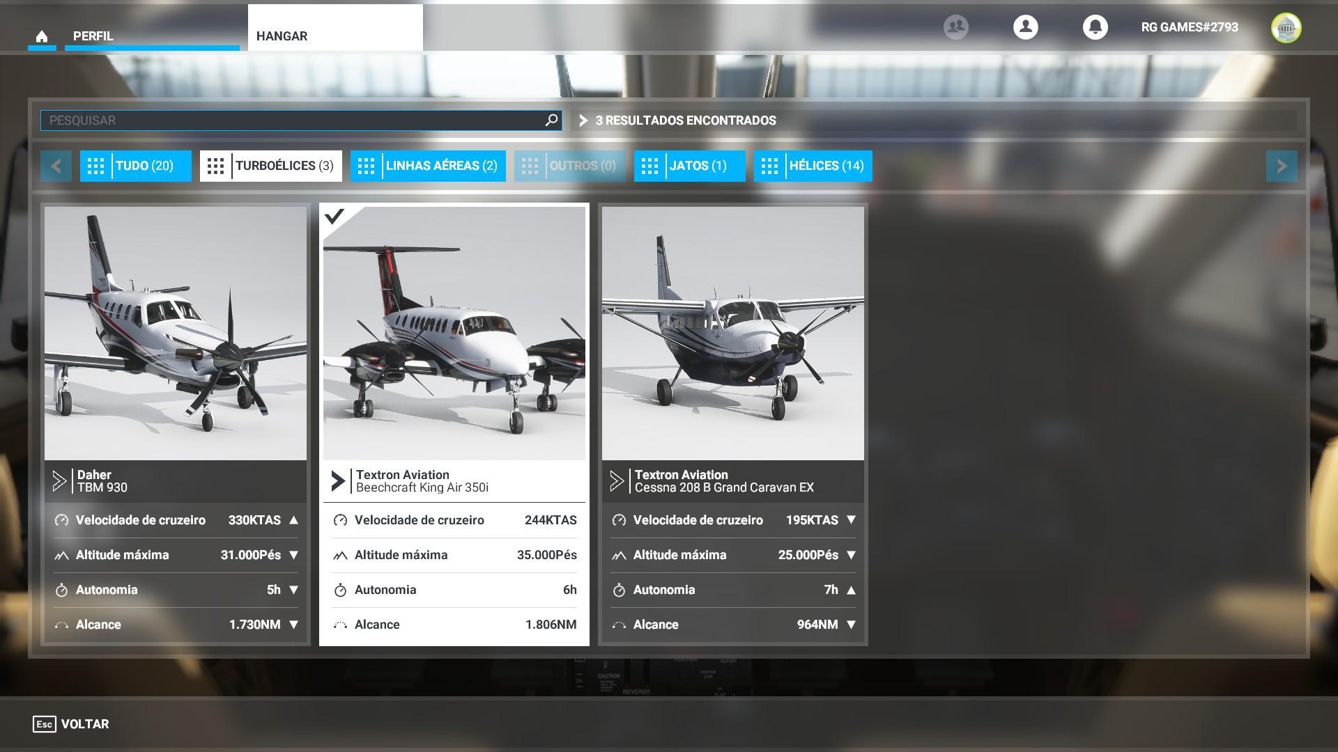 Aviões Turboélices - Flight Simulator