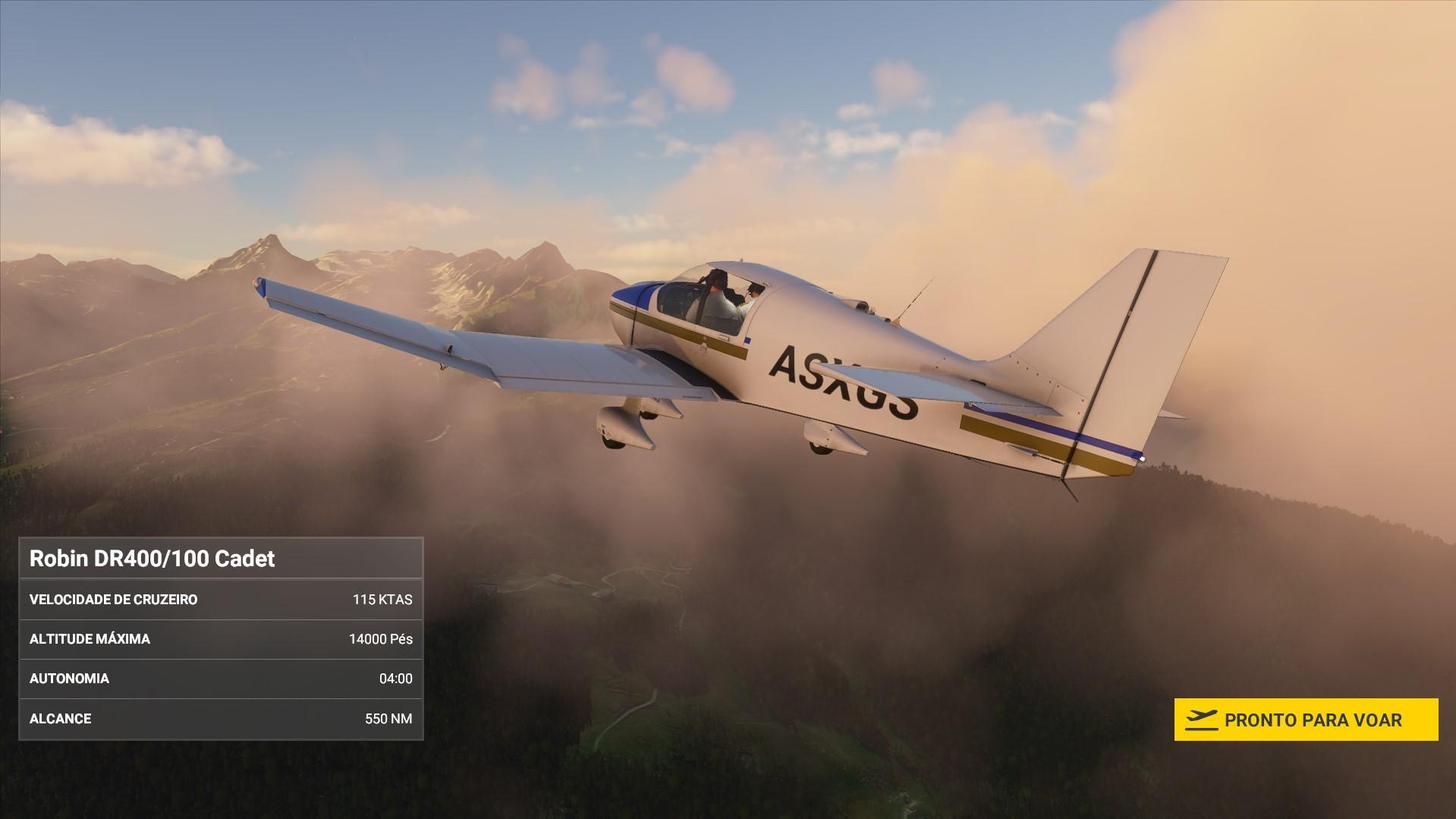 Courchevel - Robin DR400-100 Cadet - Flight Simulator