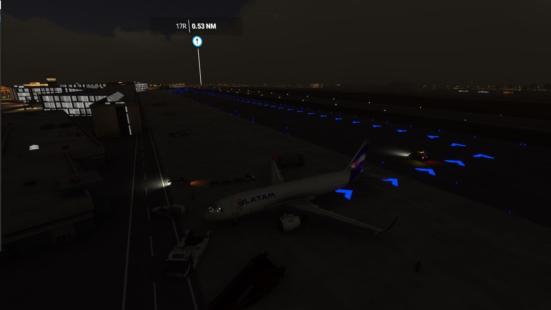 Faixa de taxi flight simulator