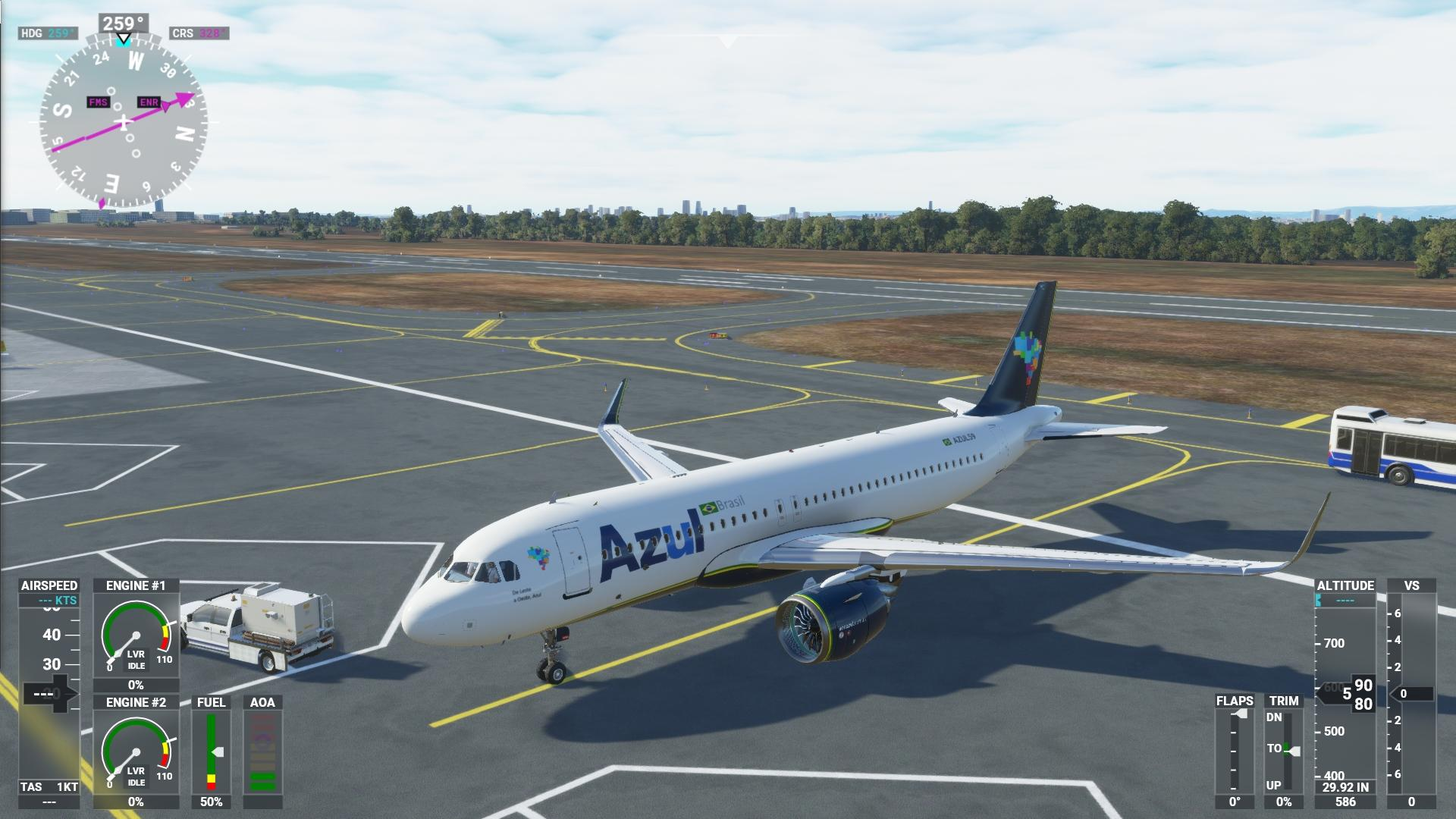 Microsoft Flight Simulator - Pintura Skin Azul Linhas Aéreas BR