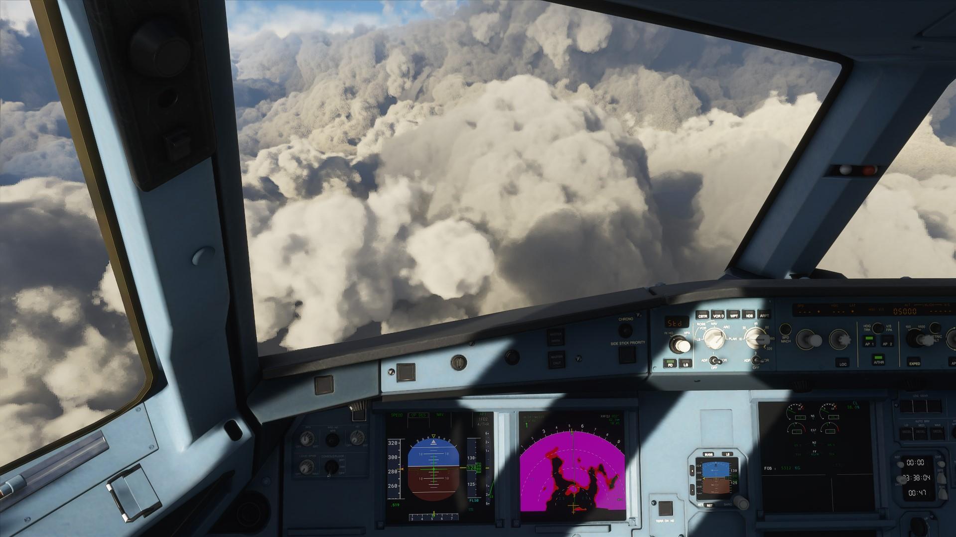 Os jogadores do Microsoft Flight Simulator estão perseguindo o furacão Laura