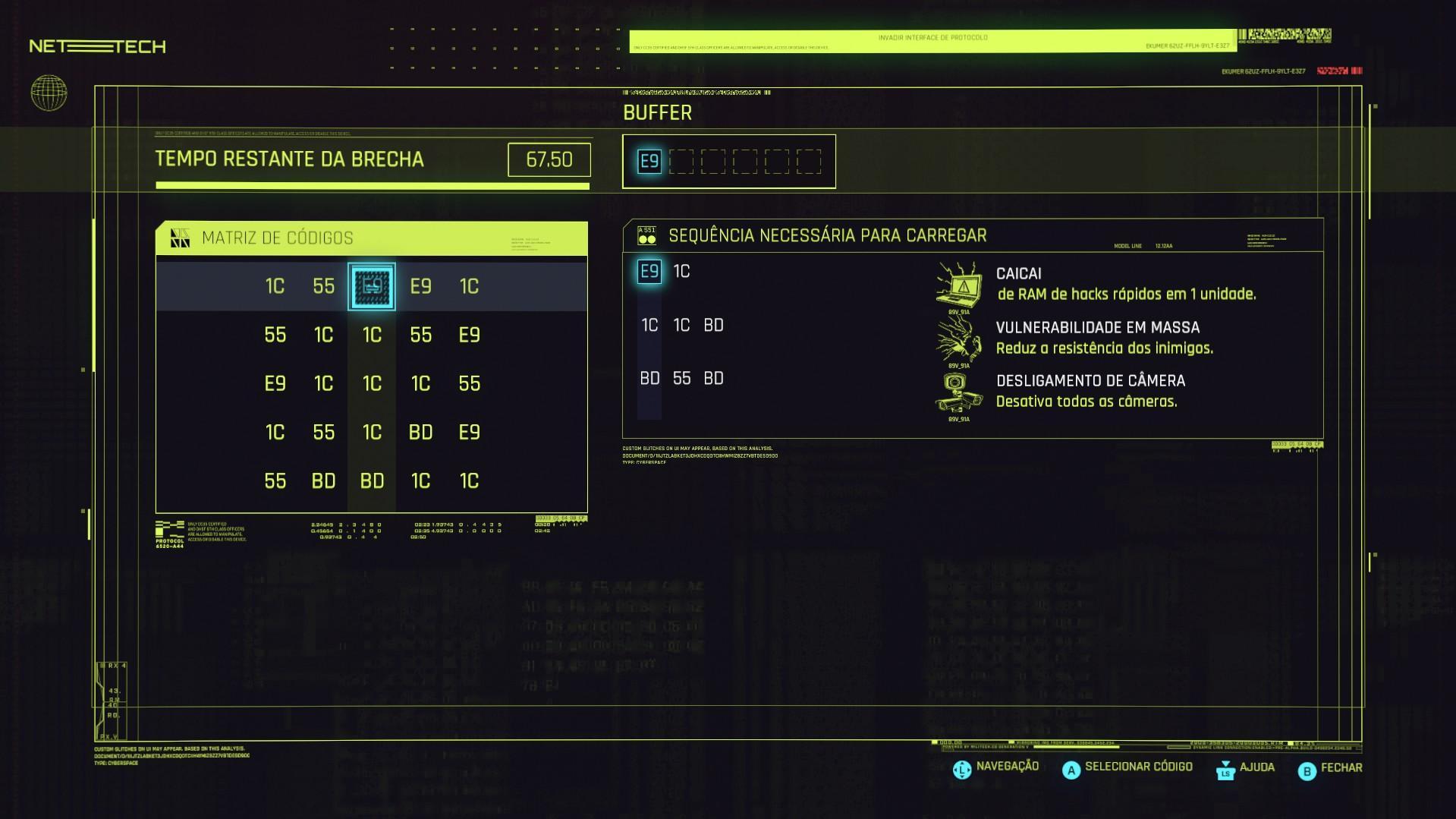 hackeando cyberpunk tela