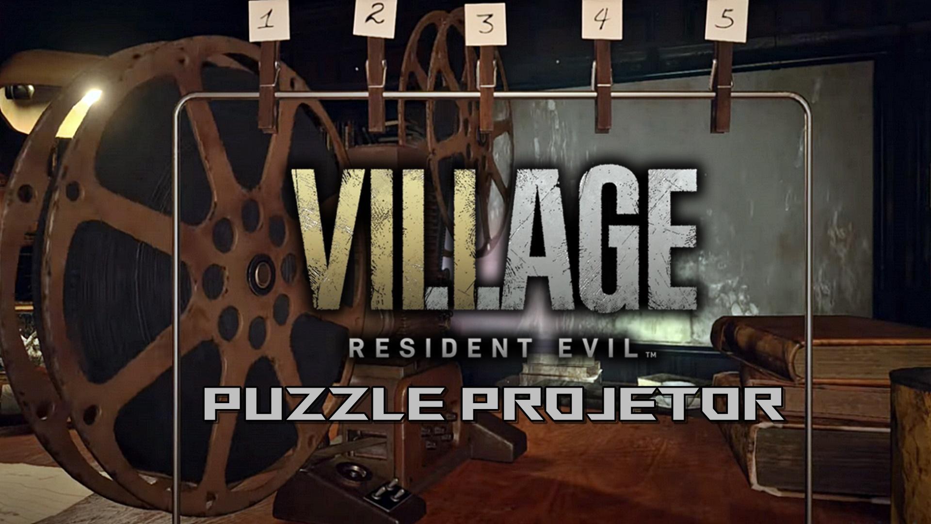 Resident Evil Village - Solução do quebra-cabeça / puzzle do projetor de filmes
